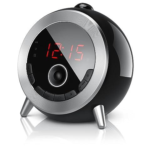Brandson - Despertador con Radio FM Retro/Despertador-proyector/Radio con Reloj/
