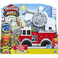 Play-Doh E6103 Wheels Firetruck Toy with 5 Non-Toxic Colors Including Play-Doh Water Compound,Brown
