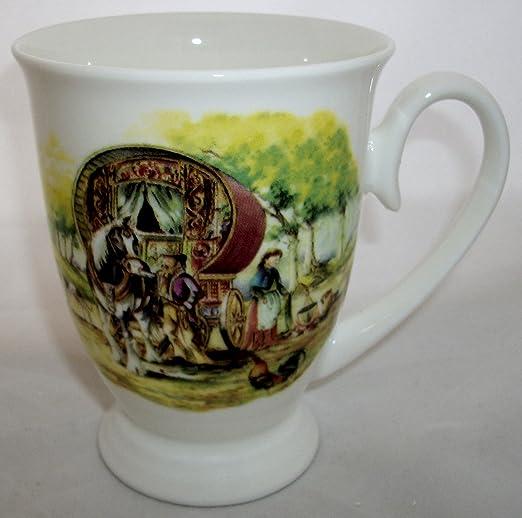 Taza de cerámica de diseño caravana gitana romaní: Amazon.es ...