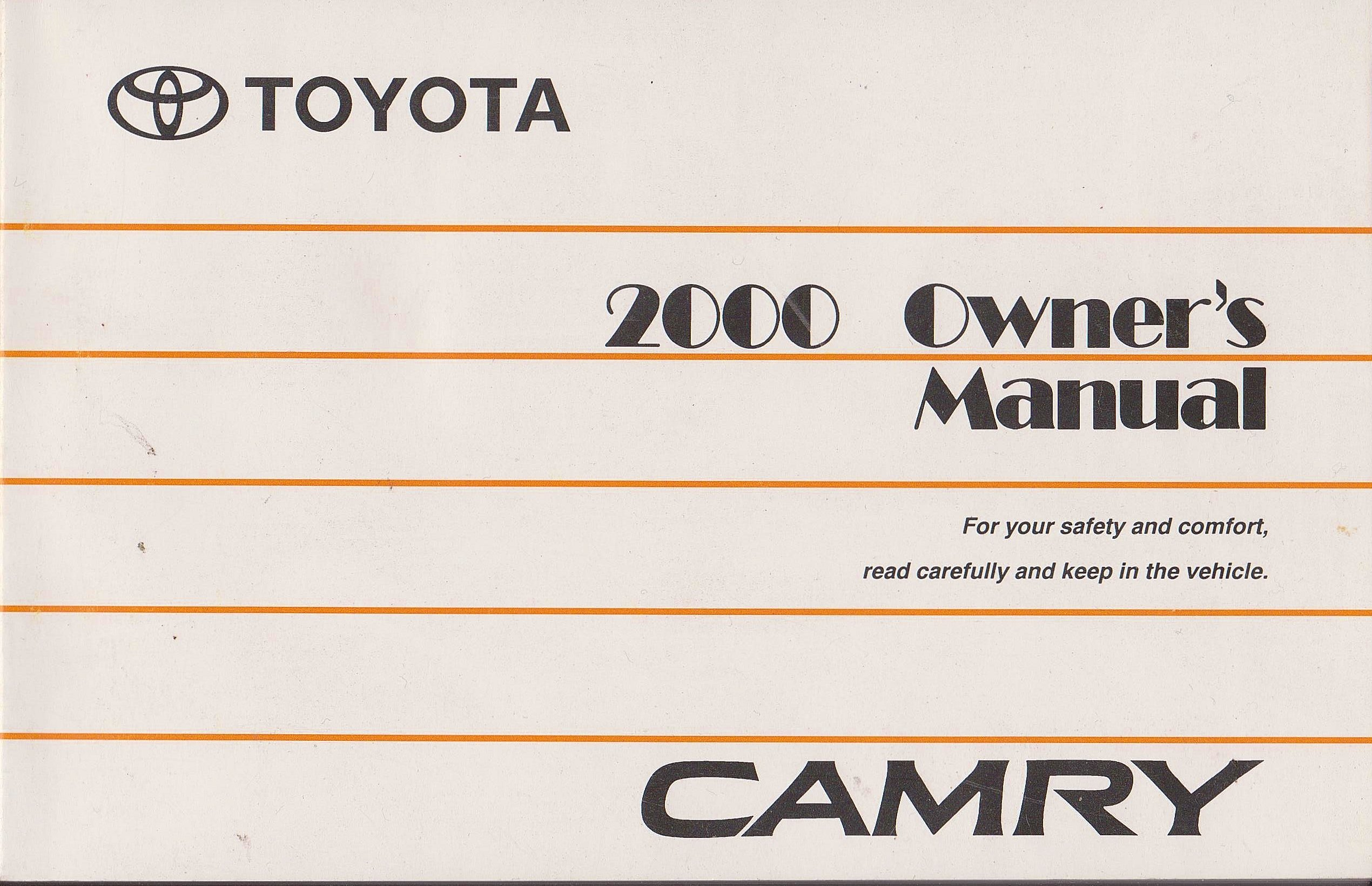 2000 toyota camry owners manual toyota amazon com books rh amazon com 2000 toyota camry factory service manual 2000 toyota camry le repair manual