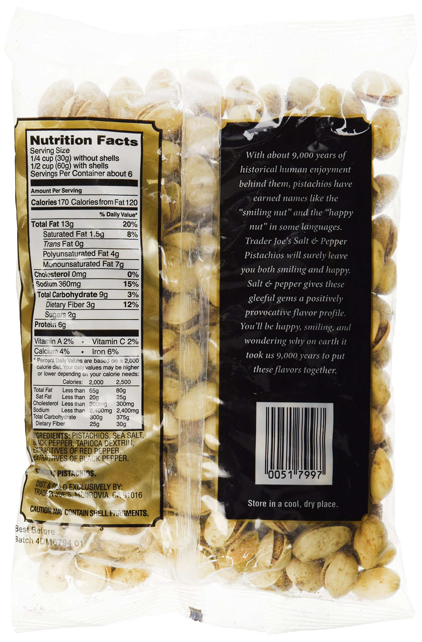 Trader Joe's Salt and Pepper Pistachios by Trader Joe's (Image #4)