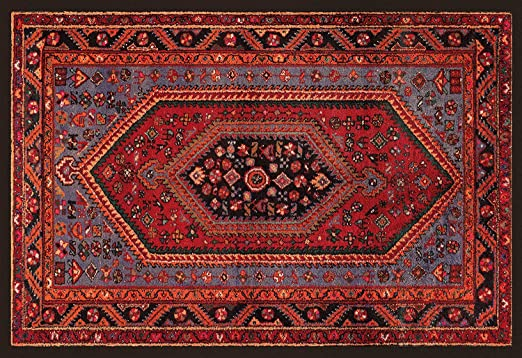 HomeLife Alfombra de estilo persa y oriental, 104 x 154 cm
