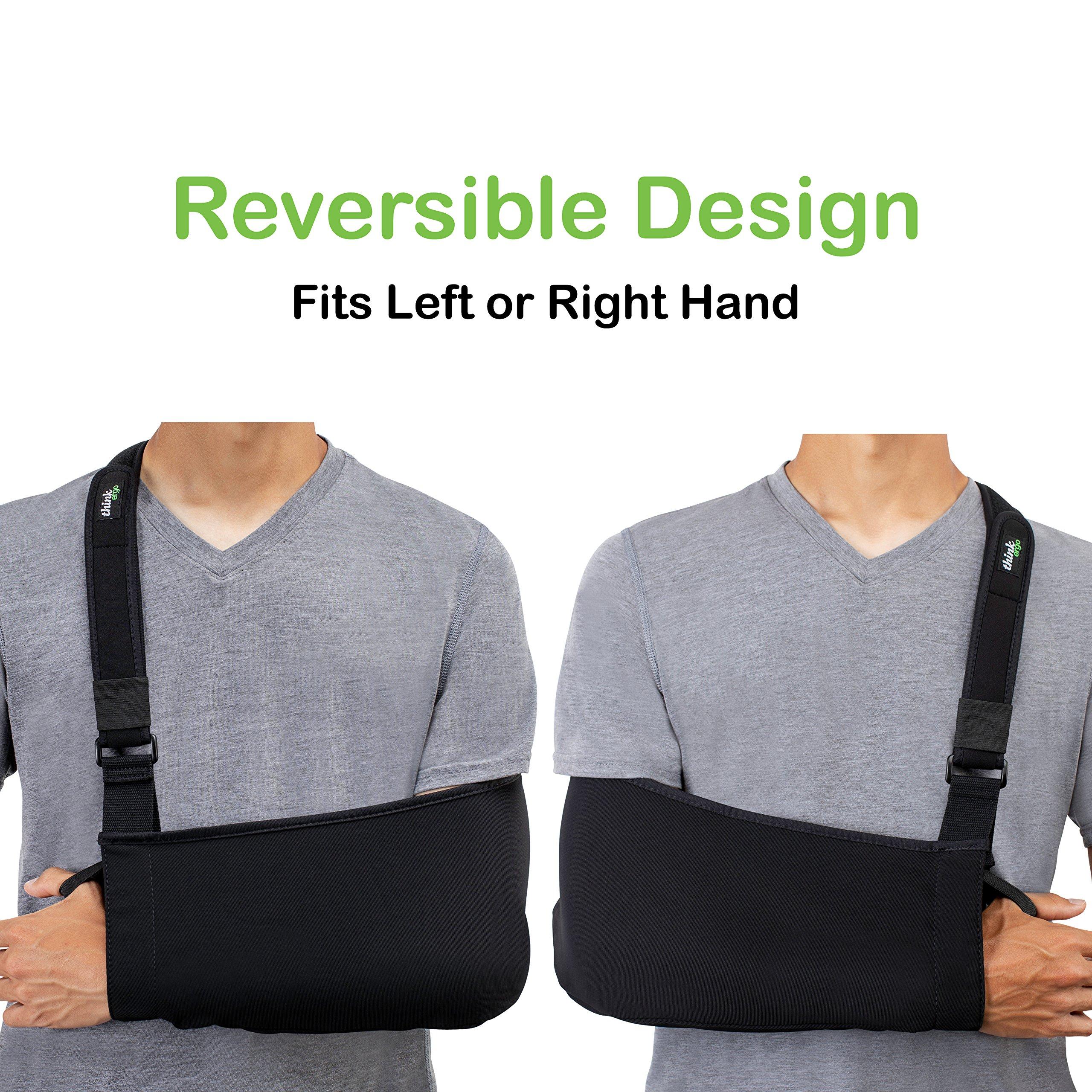 Think Ergo Arm Sling Sport - Lightweight, Breathable, Ergonomically Designed Medical Sling for Broken & Fractured Bones - Adjustable Arm, Shoulder & Rotator Cuff Support (Adult) by Think Ergo (Image #3)