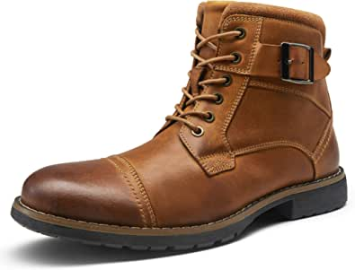 VOSTEY Men's Motorcycle Boots Business Casual Chukka Boot for Men