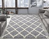 "Ottomanson Collection shag Trellis Area Rug, 6'7"" x"