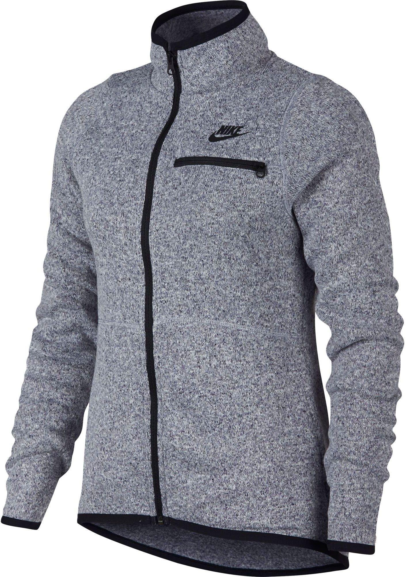 Nike Women's Sportswear Summit Full Zip (Provence Purple/Black, L)