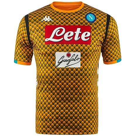 SSC Napoli Camiseta de portero visitante réplica naranja fantasía, naranja, xxl