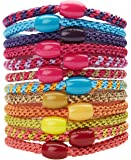 L. Erickson Grab & Go Ponytail Holder, Fiji, Set of Twelve - Exceptionally Secure with Gentle Hold