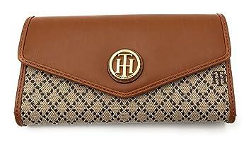 b90279fe10418 Tommy Hilfiger Damen Wallet Passcase Portmonnaie Geldbörse Geldbeutel beige  braun