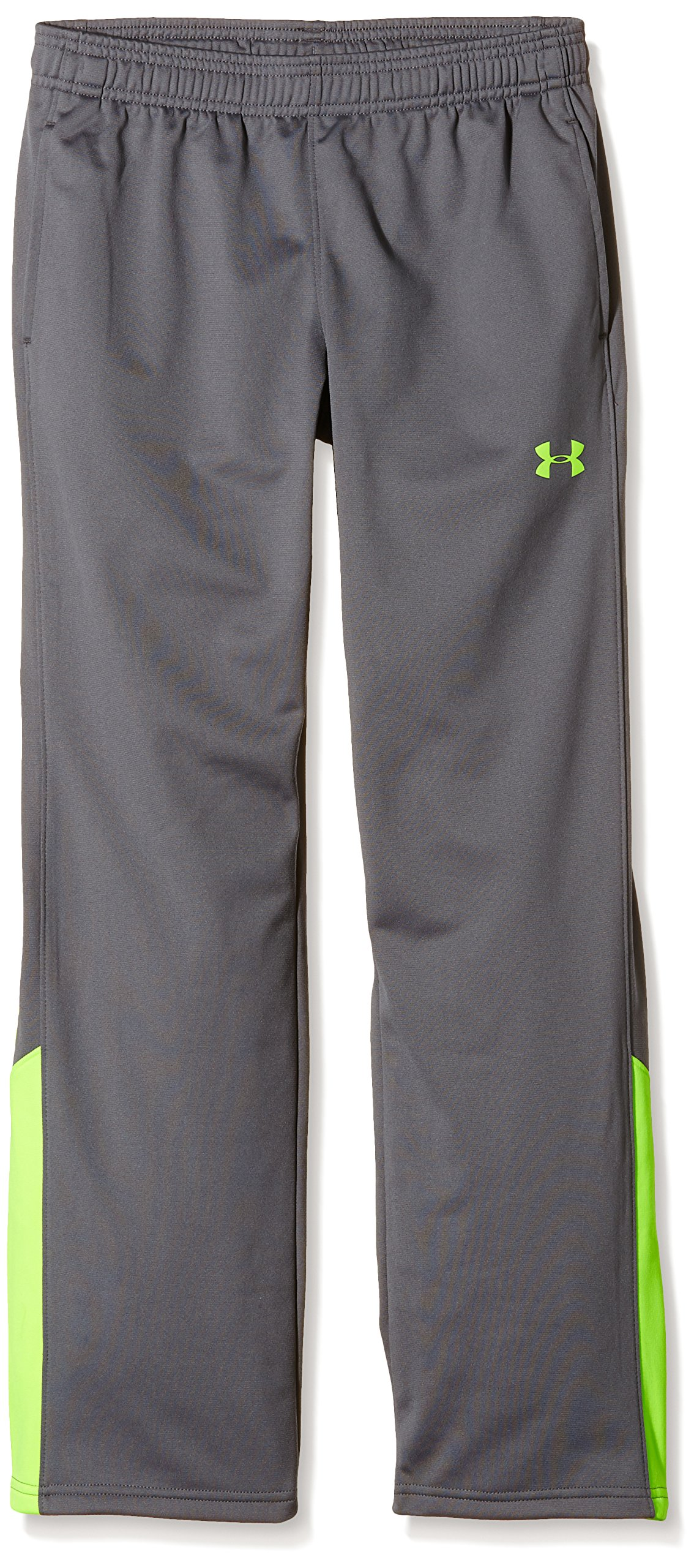 Under Armour Boys' Brawler Pants, Graphite /Fuel Green, Youth Large by Under Armour