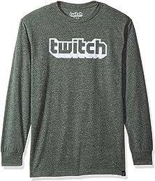 Twitch Flocked Logo L/S Tee