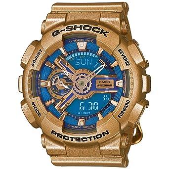 Casio G-Shock G-Series Blue Dial Gold Tone Quartz Women s Watch  GMAS110GD-2A  Casio - G-Shock  Amazon.co.uk  Watches f1fbf7eb3c