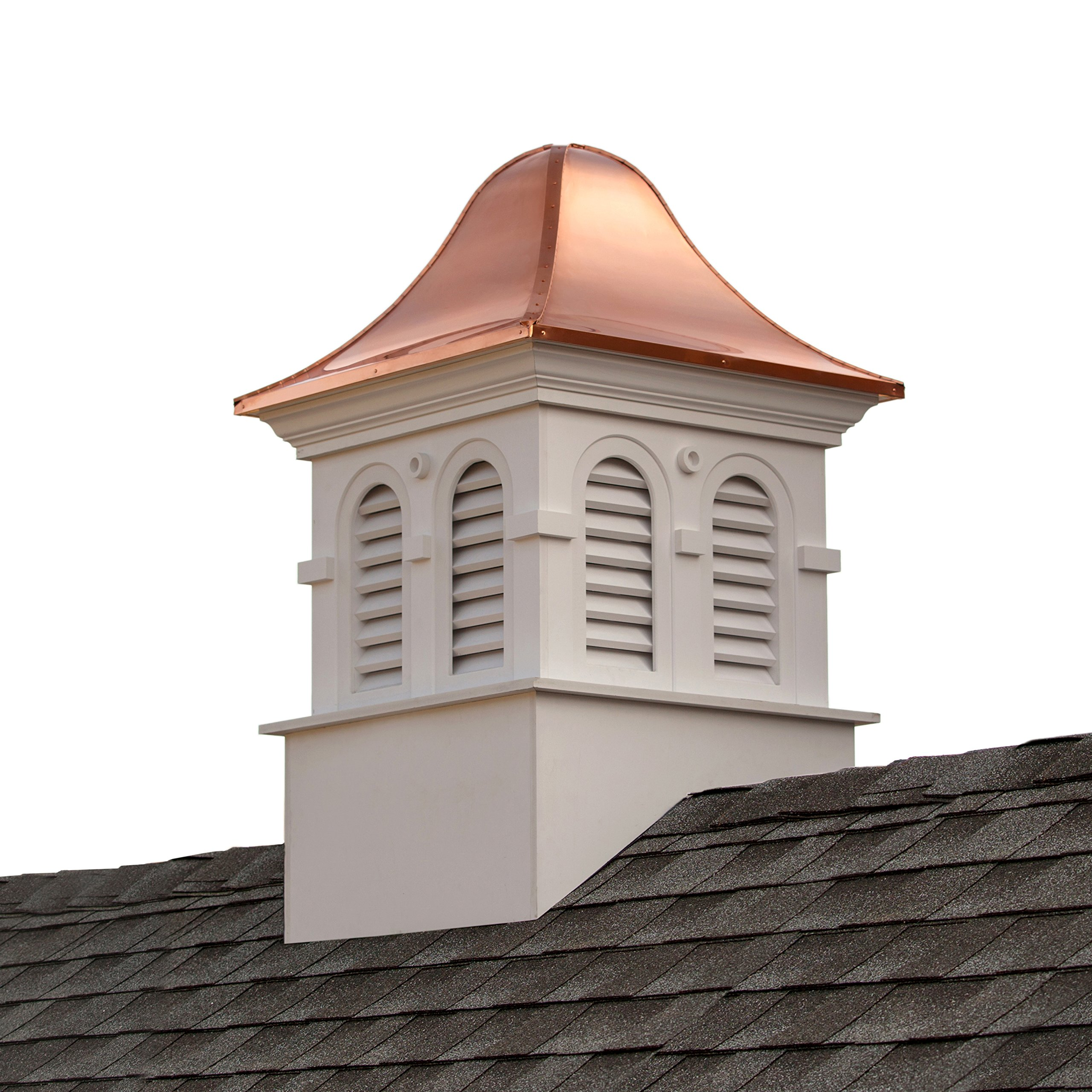 Smithsonian Montgomery Vinyl Cupola with Copper Roof 26'' x 42'' by Good Directions