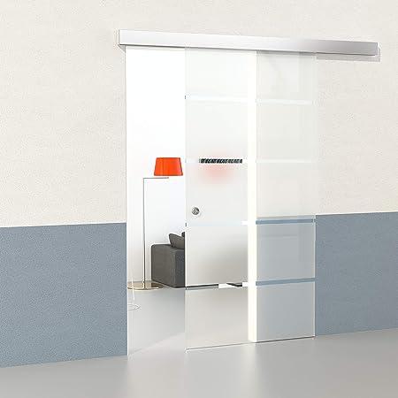 Duradoor Glasschiebetur Schiebetur Glastur 5 Streifendesign