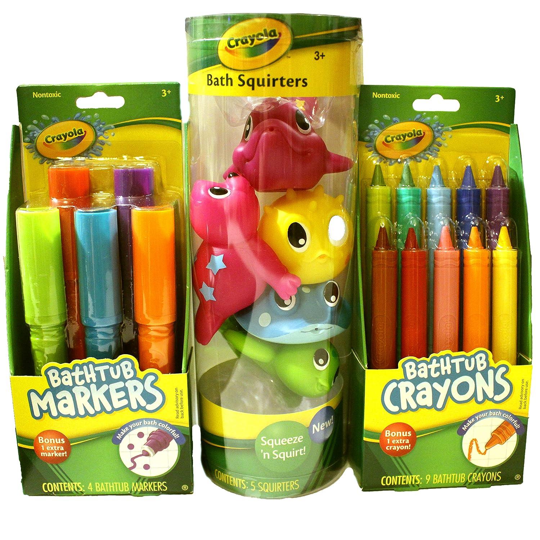 Amazon.com : Crayola Bath Time Fun Bundle Including Bathtub ...
