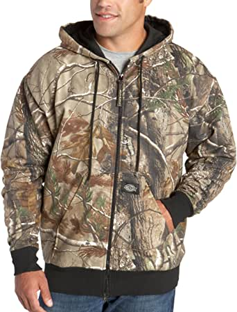 Dickies Men's Signature Thermal Lined Hooded Fleece Camouflage Jacket