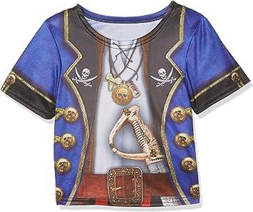 Rubies – i-630865s – Camiseta sublimación Pirata para niño – Talla S: Amazon.es: Juguetes y juegos