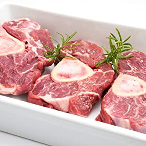 100% Grass Fed Beef Shank 4 Pack – 2lbs Each Pack– Delicious & Healthy Natural Beef Meat, Protein & Omega-3 Rich, Hormone-Free & Non-GMO, Juicy & Ready, Classic American Slow Cooker & Braising Choic