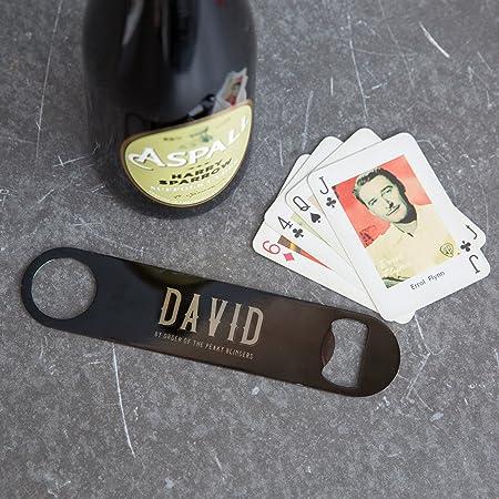 Abridor de botellas de cerveza de doble cara personalizable – perfecto para cumpleaños, día del padre, calcetín de Navidad, amigo secreto o regalo de boda. Peaky Blinders 'The Garrison Tavern'