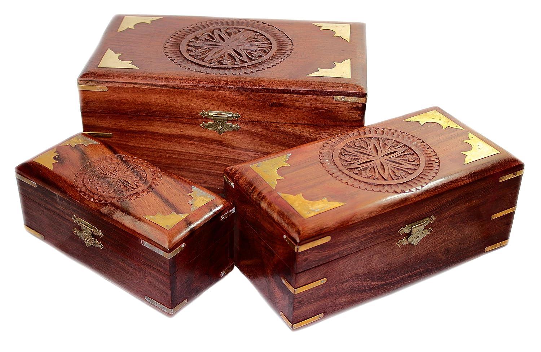 """Holz Box Puzzle Box /""""Blume des Lebens/"""" geheimen Trick Box-Schachtel Schatule"""