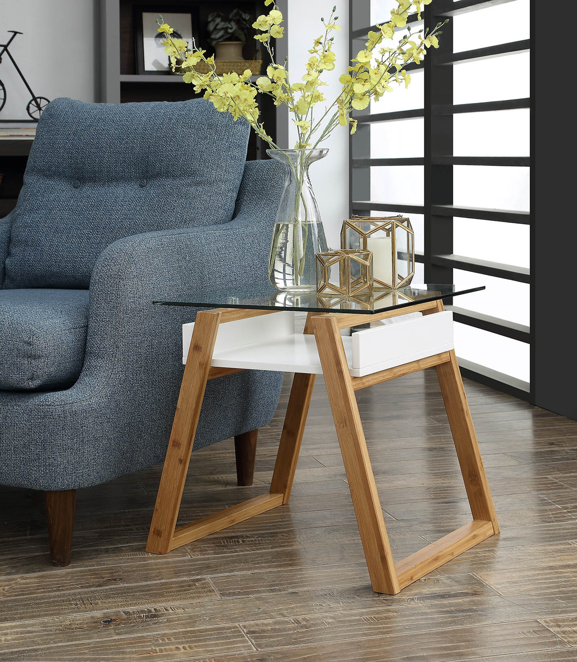 clear glass sofa end table shelf side chair narrow living room rh ebay com french side chairs for living room modern side chairs for living room