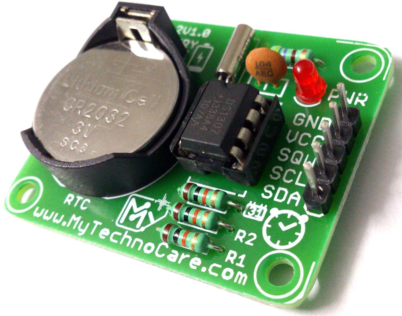 My Technocare Ds1307 Rtc Module For Arduino8051avrpicarmmsp430 Digital Clock Using 8051 Microcontroller With Arduino8051avrpicarmmsp430raspberry Pi Board I2c Iic Real Time Kit Li Battery 56 Byte Nv Ram