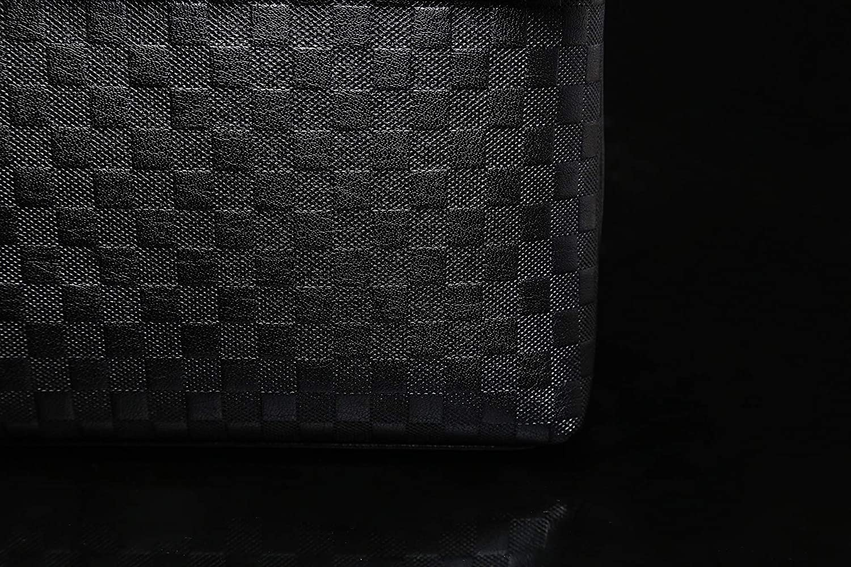 Bininbox Mens Leather Business Shlouder Crossbody Breifcase Messenger Bag Brown