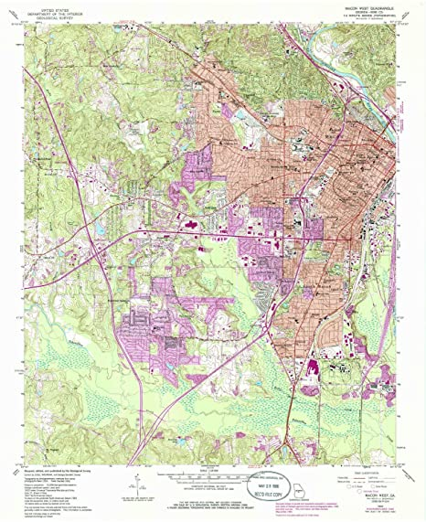 Amazon Com Yellowmaps Macon West Ga Topo Map 1 24000 Scale 7 5 X