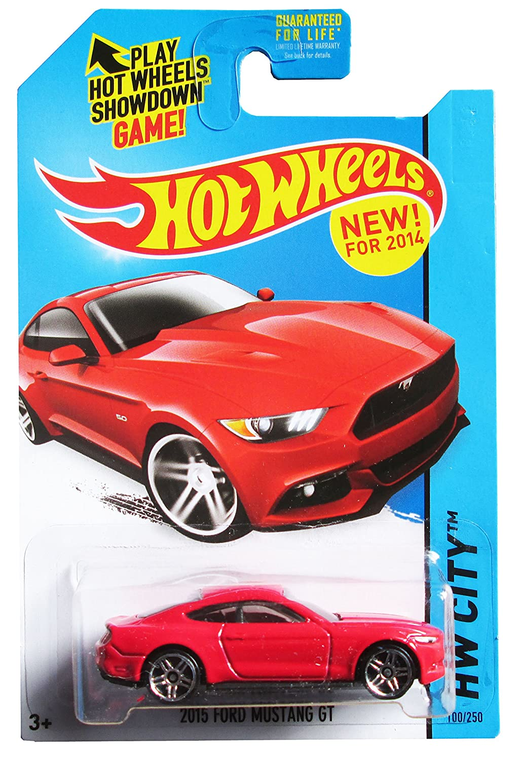 Amazon com hot wheels 2014 hw city ford mustang gt red 100 250 toys games