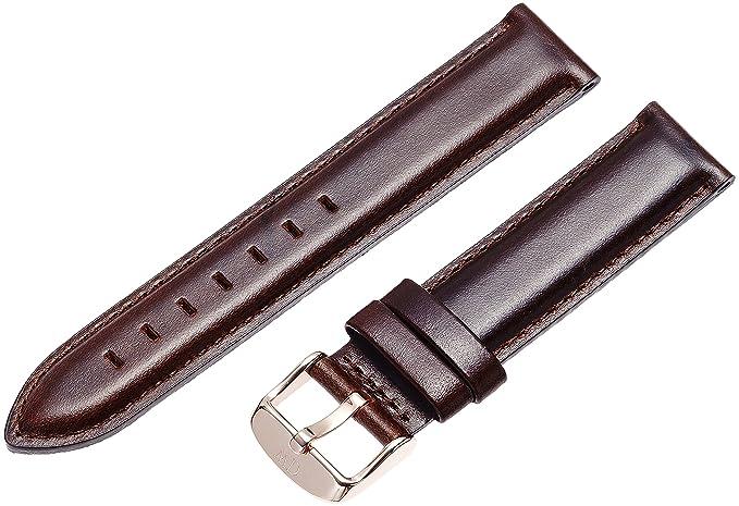 3061af0f2 Daniel Wellington 0711DW - Correa de Cuero para Reloj de Mujer, Color  marrón (18.0