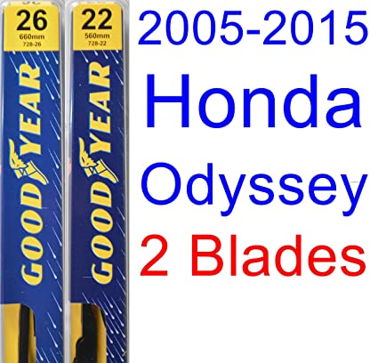 2005-2015 Honda Odyssey Replacement Wiper Blade Set/Kit (Set of 2 Blades