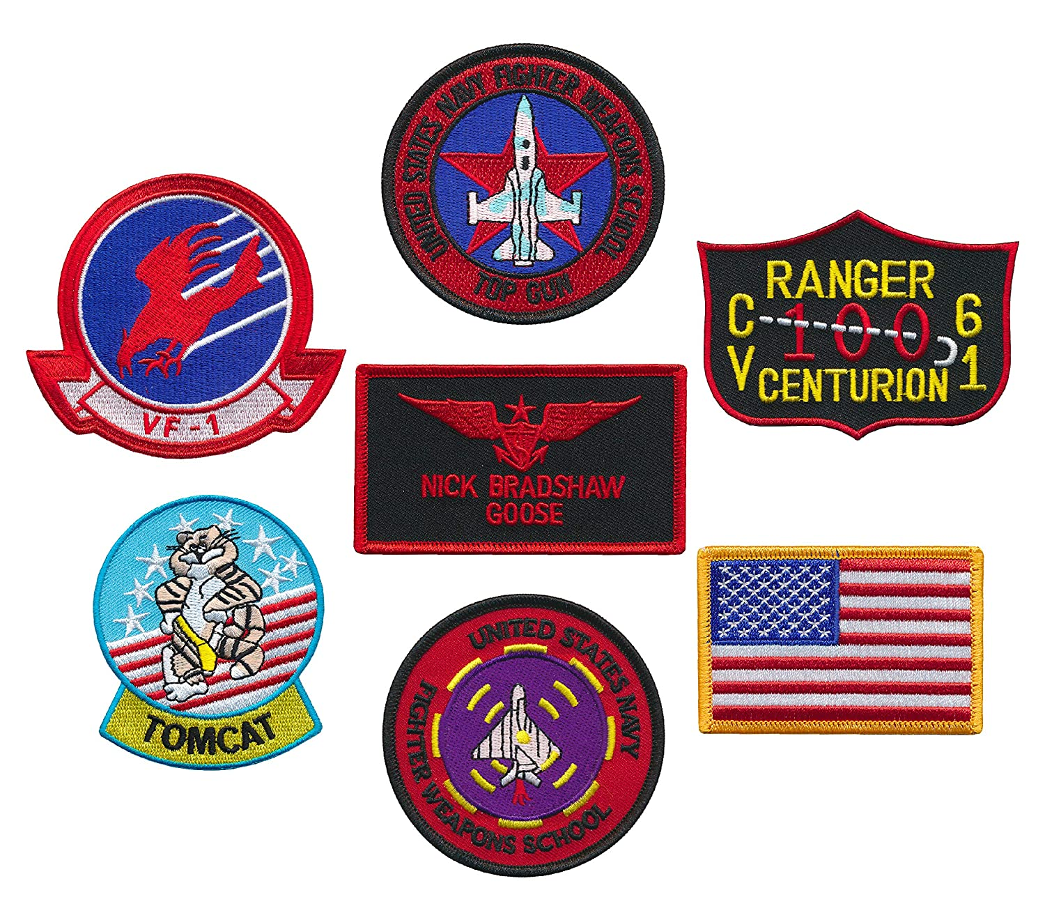 US Naval Aviator Top Gun Fighter Tactics Patch set of 6 and a FREE Patch