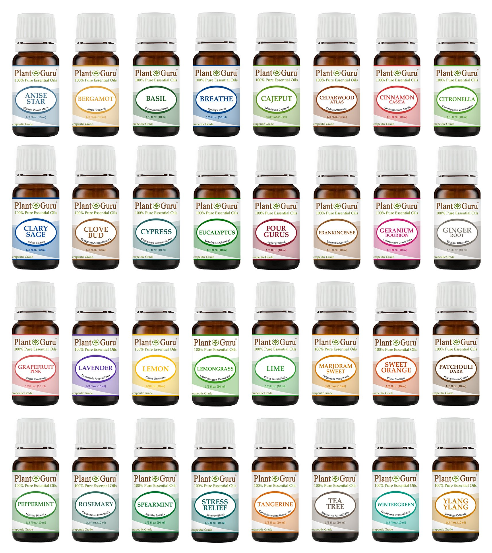 Ultimate Essential Oil Variety Set Kit - 32 Pack - 100% Pure Therapeutic Grade 10 ml.