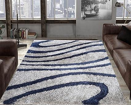 TAUHID CARPET Microfiber Shaggy Collection Anti-Skid Carpet -(2.9x5ft, Light Grey)