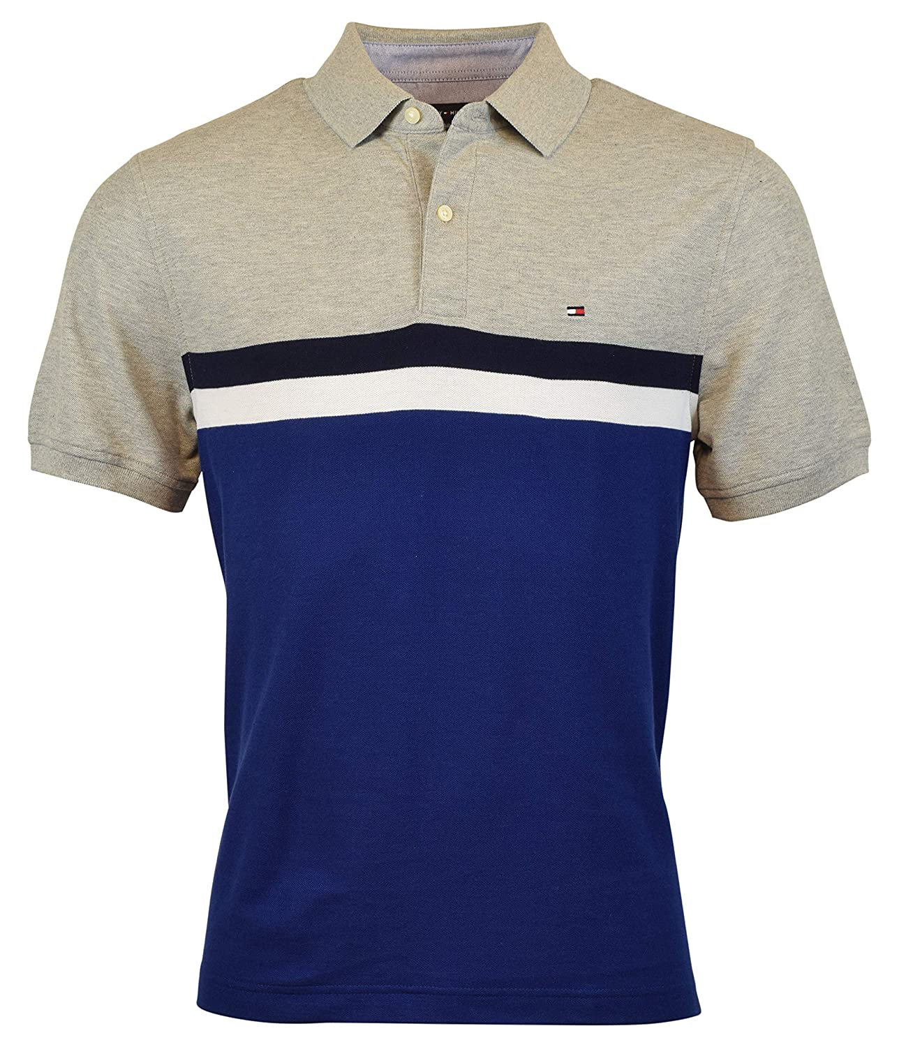 Tommy Hilfiger Colorblock Regular Fit Polo At Amazon Mens Clothing