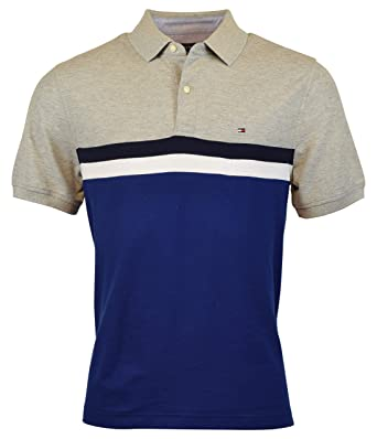 79eaf5ede Image Unavailable. Image not available for. Color: Tommy Hilfiger Men's  Regular Fit Performance Pique Polo Shirt - XS - Gray/Blue