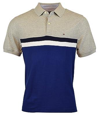 63857674d Tommy Hilfiger Men s Regular Fit Performance Pique Polo Shirt - XS - Gray  Blue