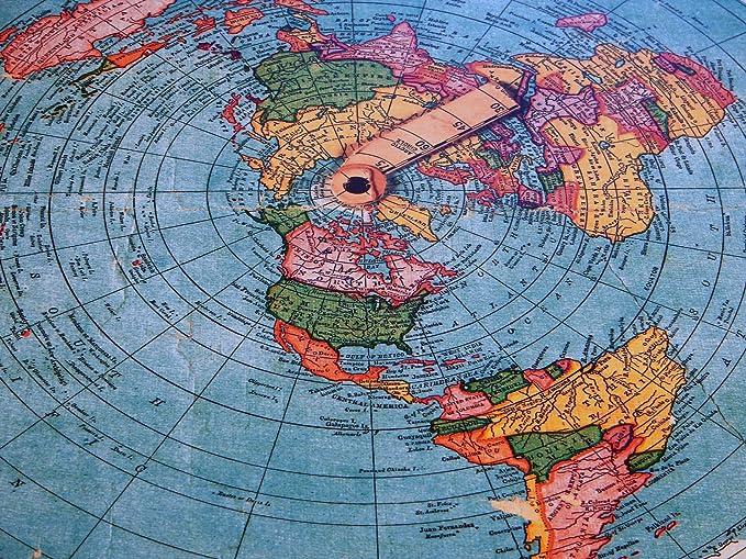 GLEASONS NEW STANDARD MAP OF THE WORLD 1892 Carta geografica Terra piatta