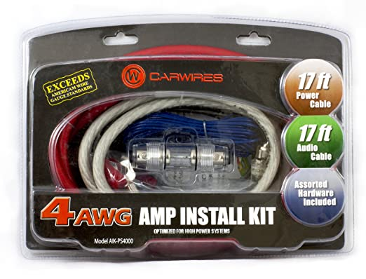 Amazon carwires aik ps4000 1000 watt 4 awg car amplifier carwires aik ps4000 1000 watt 4 awg car amplifier install kit greentooth Choice Image