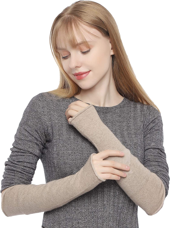 100/% Cashmere Maniche lunghe da donna lavorate a maglia senza dita per linverno