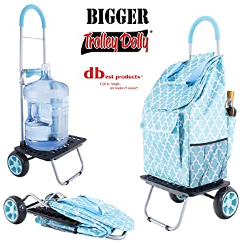 Amazon.com: Carrito para compras Dbest Products, color azul ...