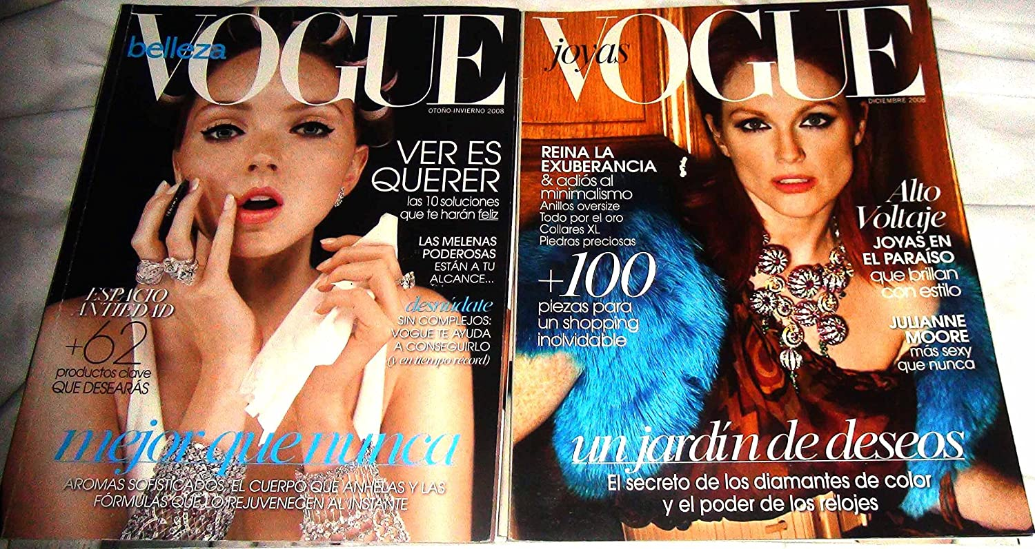 Vogue Joyas Jewelry 2 Magazines Latino America Autumn/DEC 2008 Spanish at Amazons Entertainment Collectibles Store