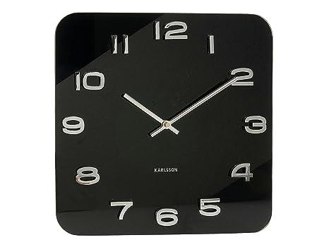 Karlsson Uhren karlsson ka4398 wanduhr vintage glas schwarz amazon de uhren