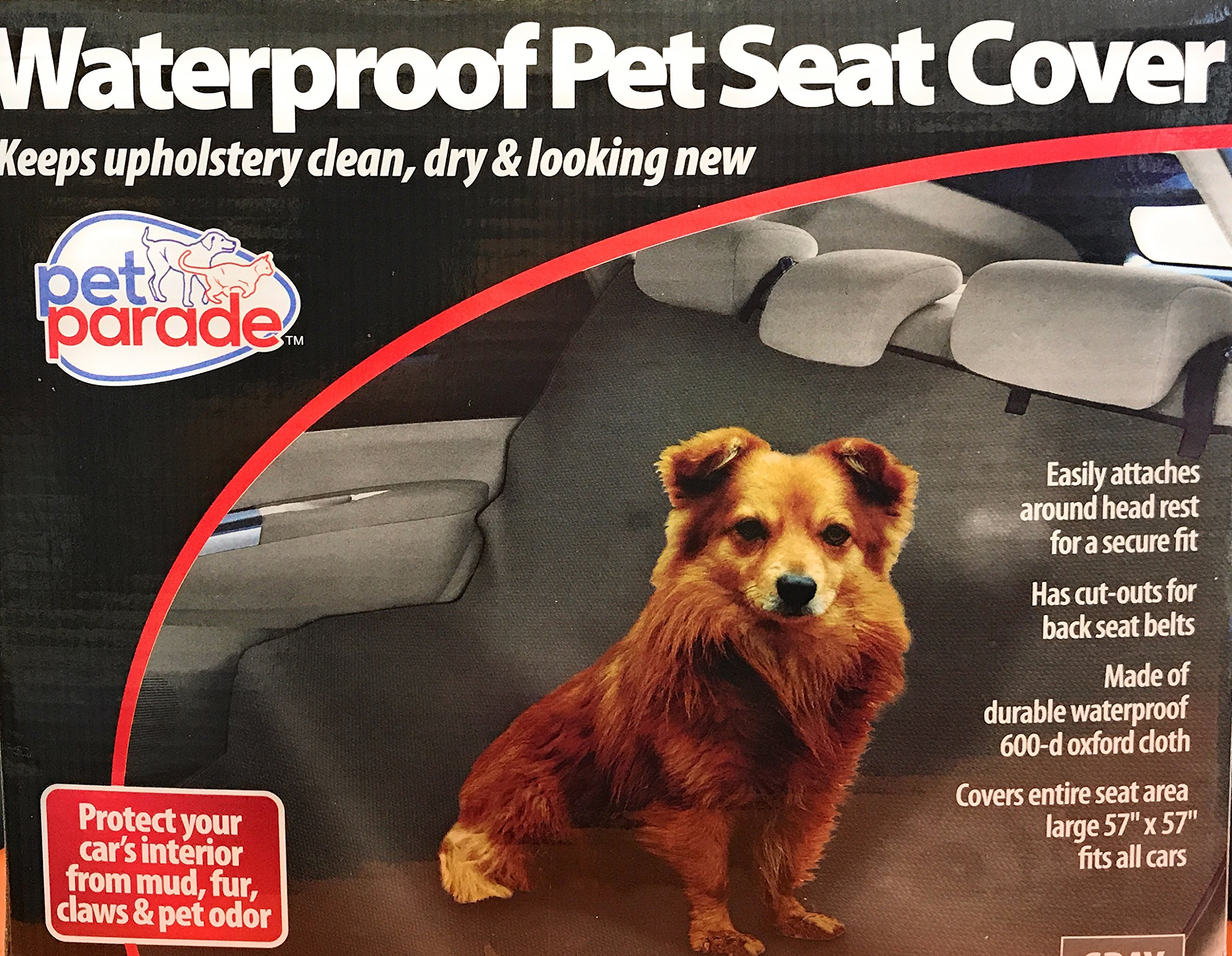 Pet Parade Waterproof Pet Seat cover, Gray