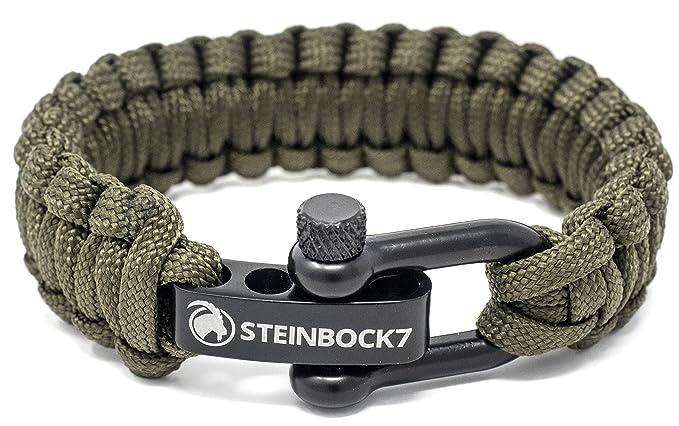 STEINBOCK7 Paracord Armband, Edelstahl Verschluss, Anleitung