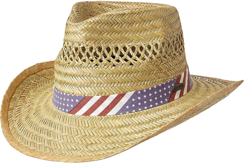 4a52537cf Amazon.com: Field & Stream Men's Americana Straw Hat: Sports & Outdoors