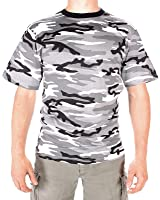 Mil-Tec - T-Shirt - Homme Urban Camo - Camouflage Col Rond / Manches Courtes Shirt