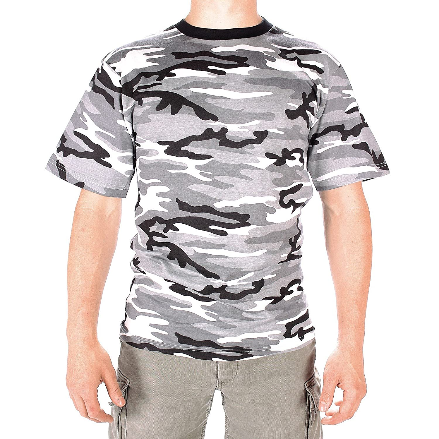 Mens Military Camouflage T-Shirts Short Sleeve Urban Camo (2X-Large) Sturm - Miltec 11012022