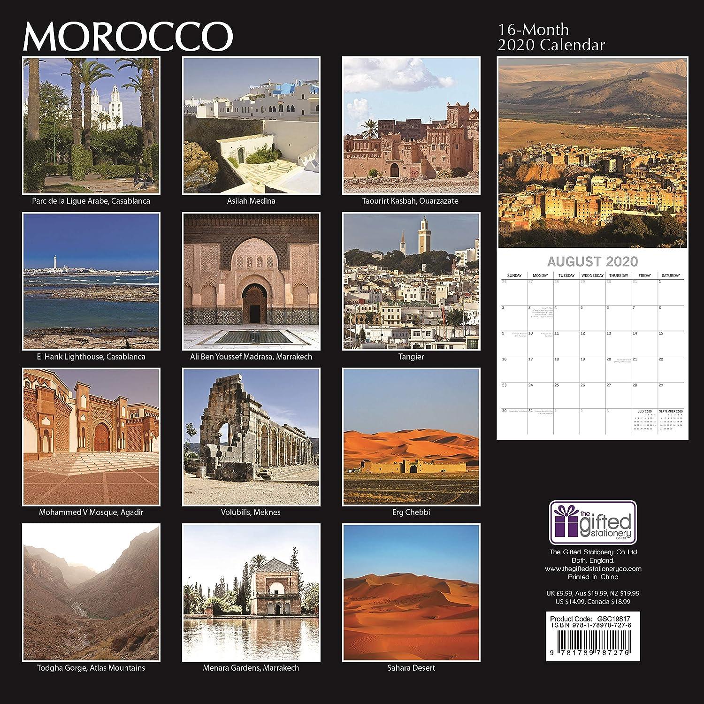 16 Mois 30 x 30 CM En Anglais Comprend 180 Autocollants De Rappel 2020 Calendrier Mural Calendrier Maroc