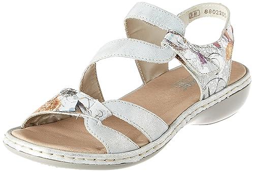 Womens 65969-81 Open Toe Sandals Rieker 8zCIuqwMt